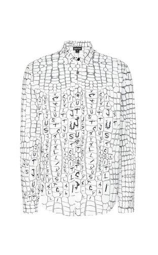 JUST CAVALLI Long sleeve shirt Man Leopard-spot-print shirt f