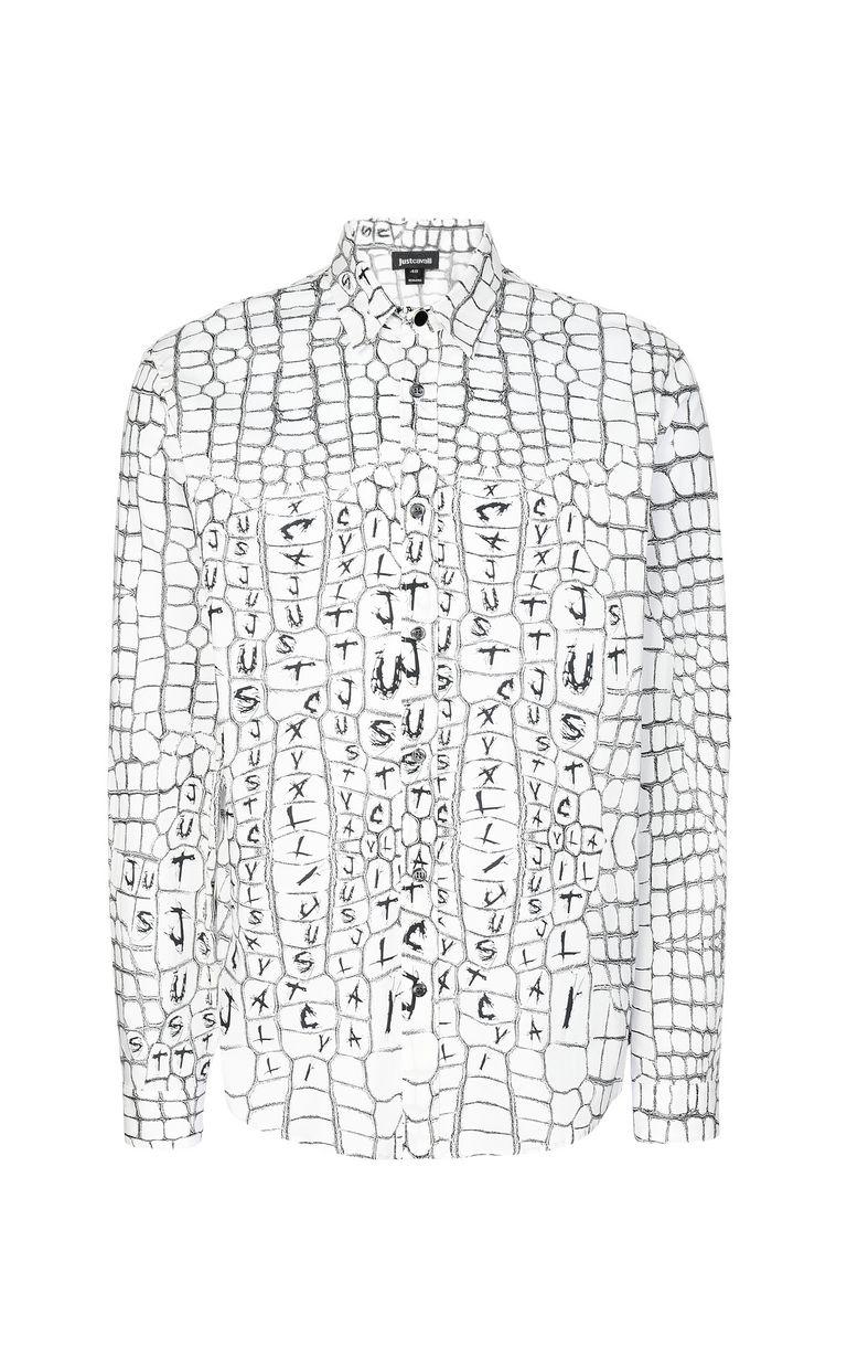 JUST CAVALLI Crocodile-skin-effect shirt Long sleeve shirt Man f