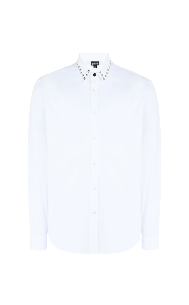 JUST CAVALLI Shirt with stud detailing Long sleeve shirt Man f