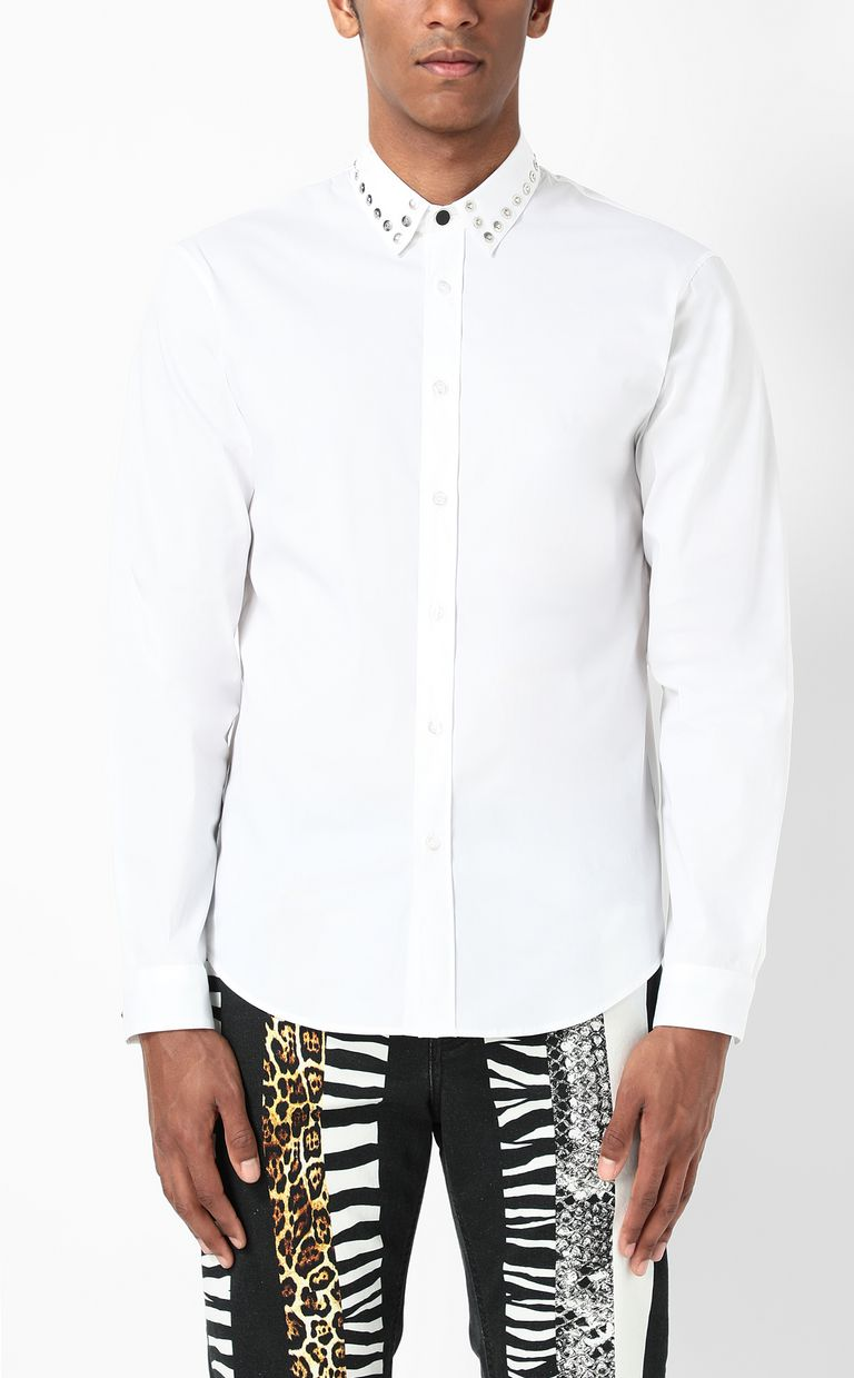 JUST CAVALLI Shirt with stud detailing Long sleeve shirt Man r