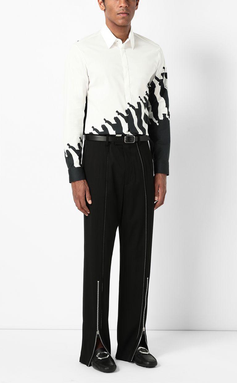 JUST CAVALLI Shirt with Diagonal Cheetah print Long sleeve shirt Man d