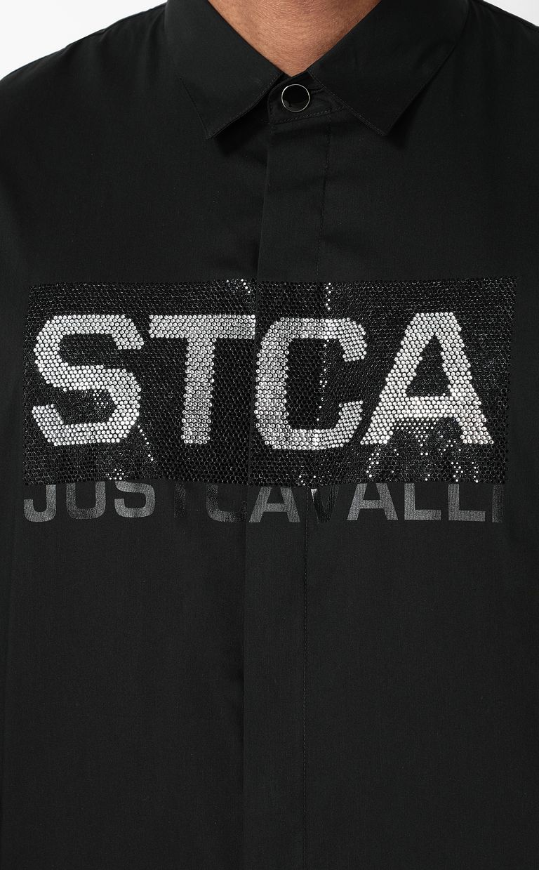 JUST CAVALLI Shirt with STCA logo Long sleeve shirt Man e