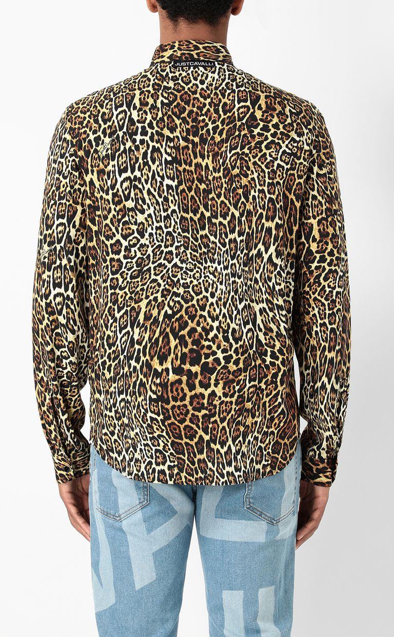 JUST CAVALLI Shirt with Dancing Leo motif Long sleeve shirt Man a