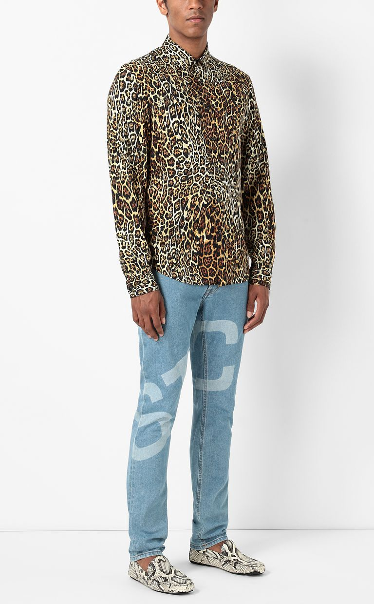JUST CAVALLI Shirt with Dancing Leo motif Long sleeve shirt Man d