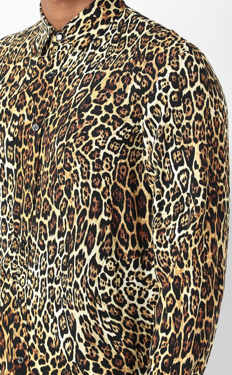 JUST CAVALLI Shirt with Dancing Leo motif Long sleeve shirt Man e
