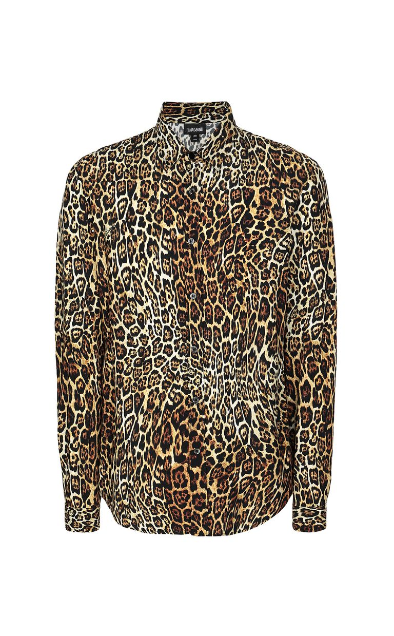 JUST CAVALLI Shirt with Dancing Leo motif Long sleeve shirt Man f