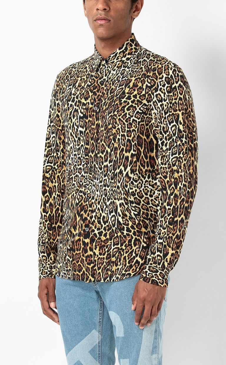 JUST CAVALLI Shirt with Dancing Leo motif Long sleeve shirt Man r