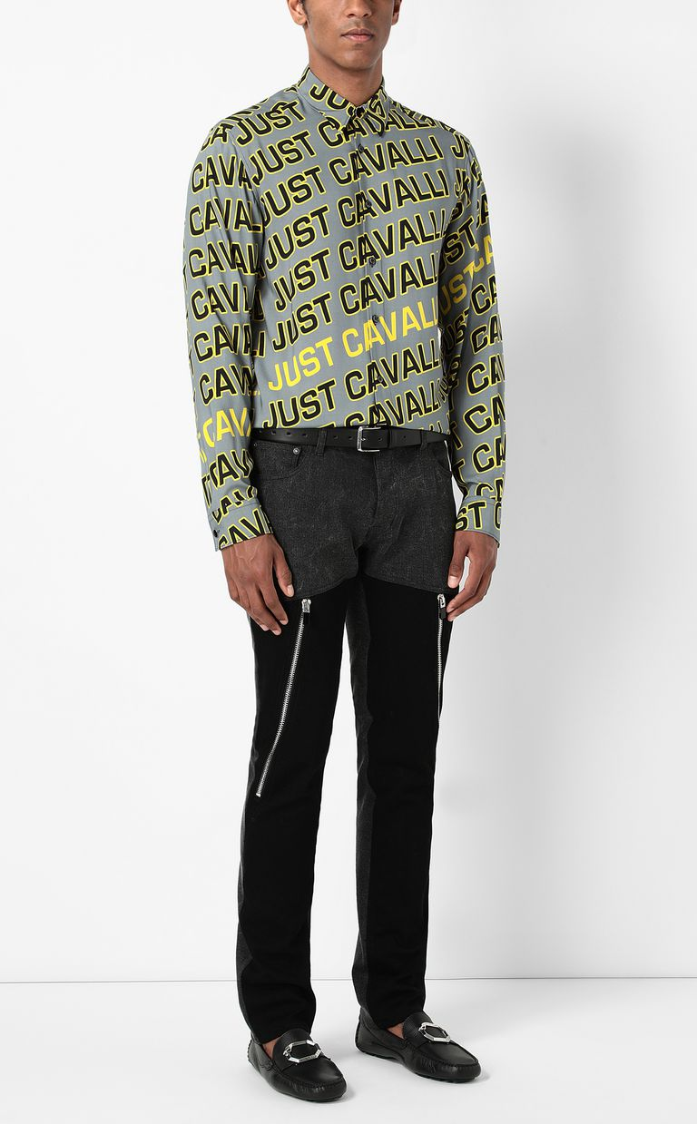 JUST CAVALLI Shirt with Logo print Long sleeve shirt Man d