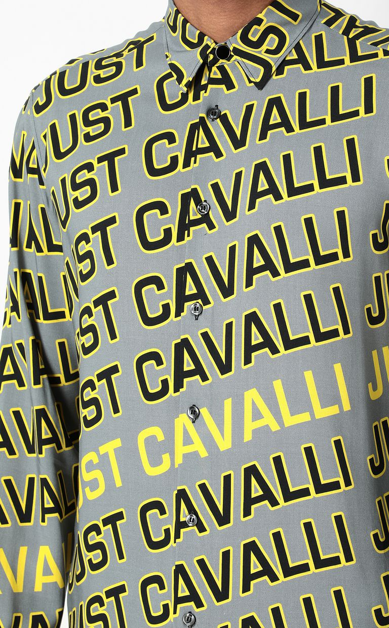 JUST CAVALLI Shirt with Logo print Long sleeve shirt Man e