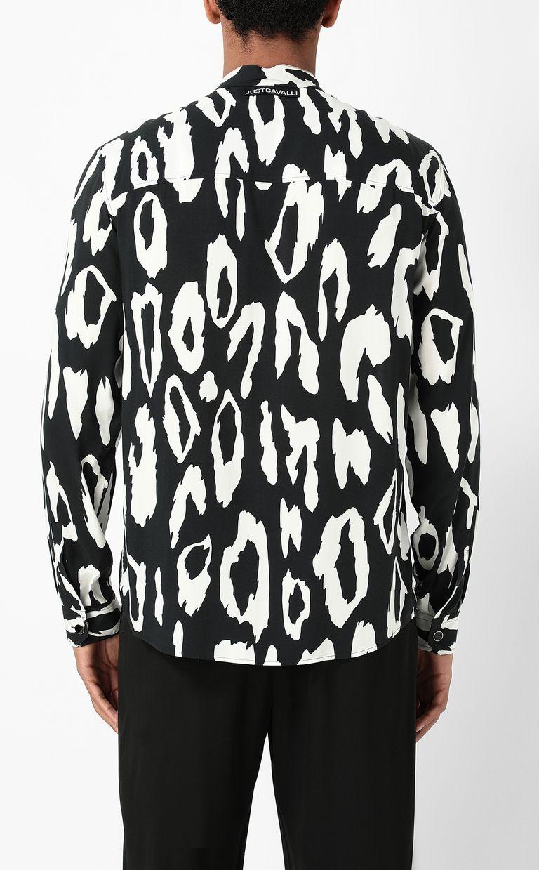 JUST CAVALLI Shirt with leopard-spot pattern Long sleeve shirt Man a