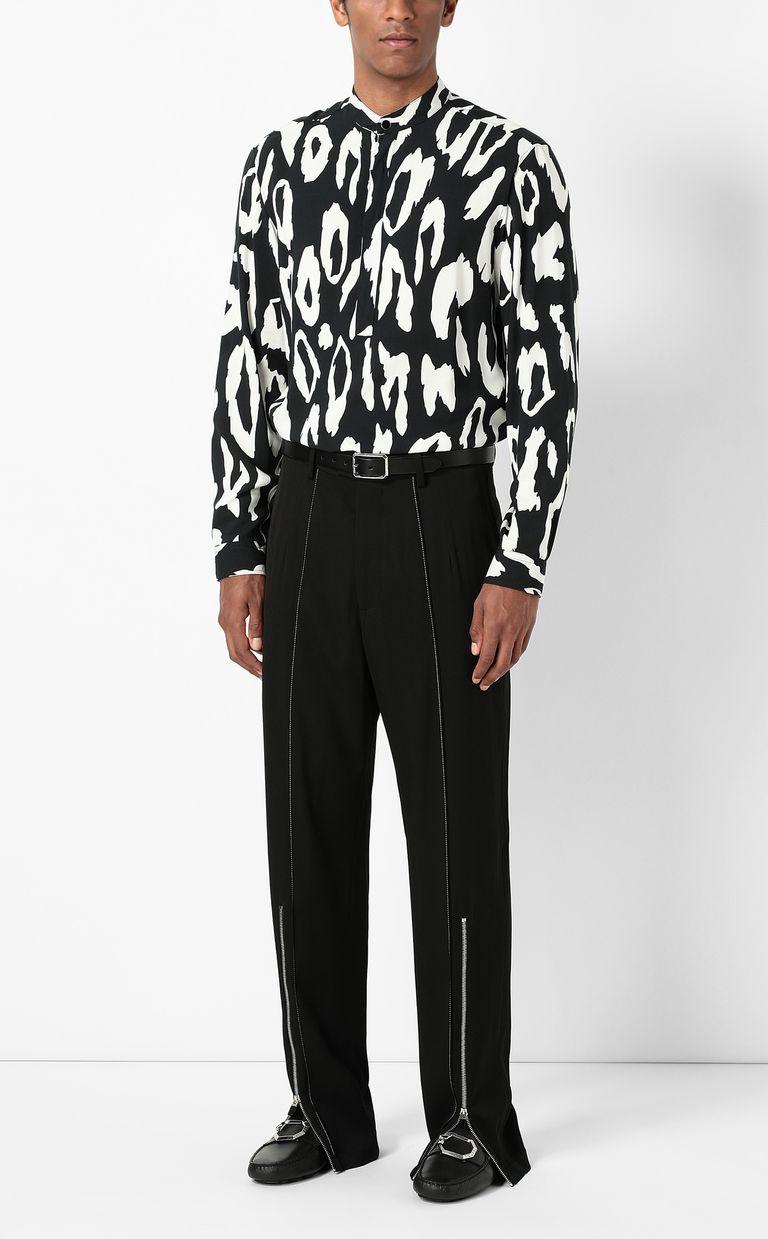 JUST CAVALLI Shirt with leopard-spot pattern Long sleeve shirt Man d
