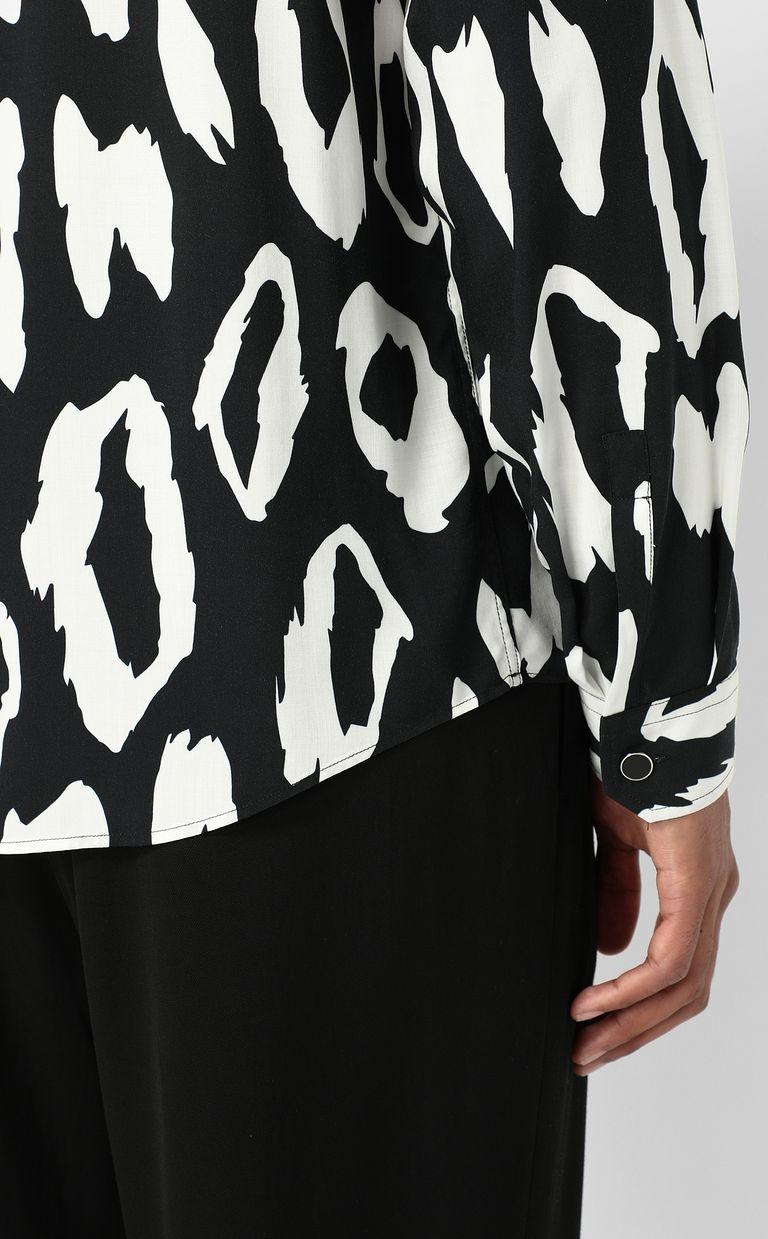 JUST CAVALLI Shirt with leopard-spot pattern Long sleeve shirt Man e