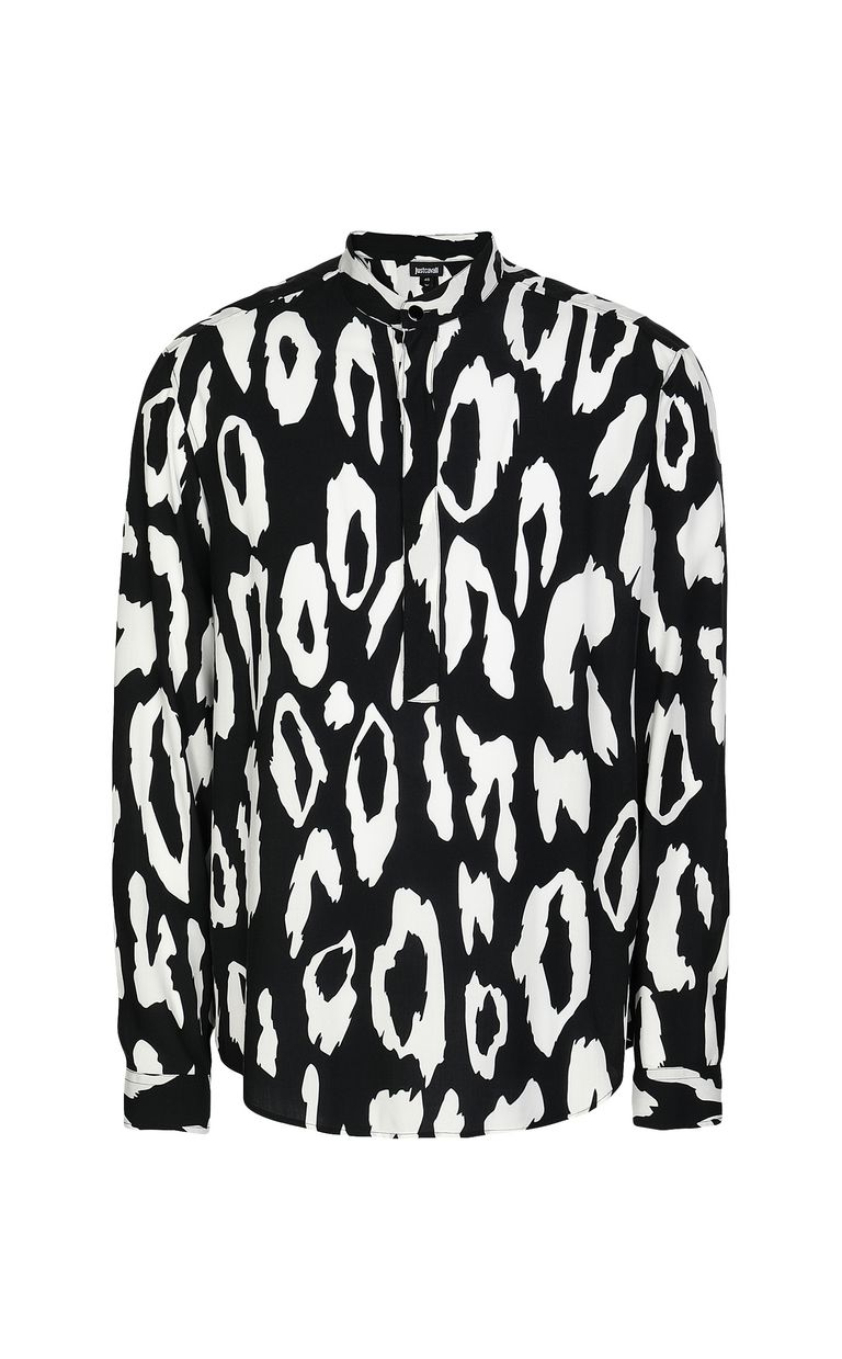 JUST CAVALLI Shirt with leopard-spot pattern Long sleeve shirt Man f