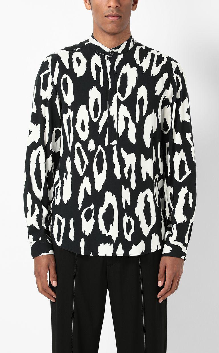 JUST CAVALLI Shirt with leopard-spot pattern Long sleeve shirt Man r