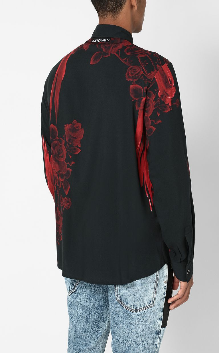 JUST CAVALLI Shirt with Moving Roses pattern Long sleeve shirt Man a