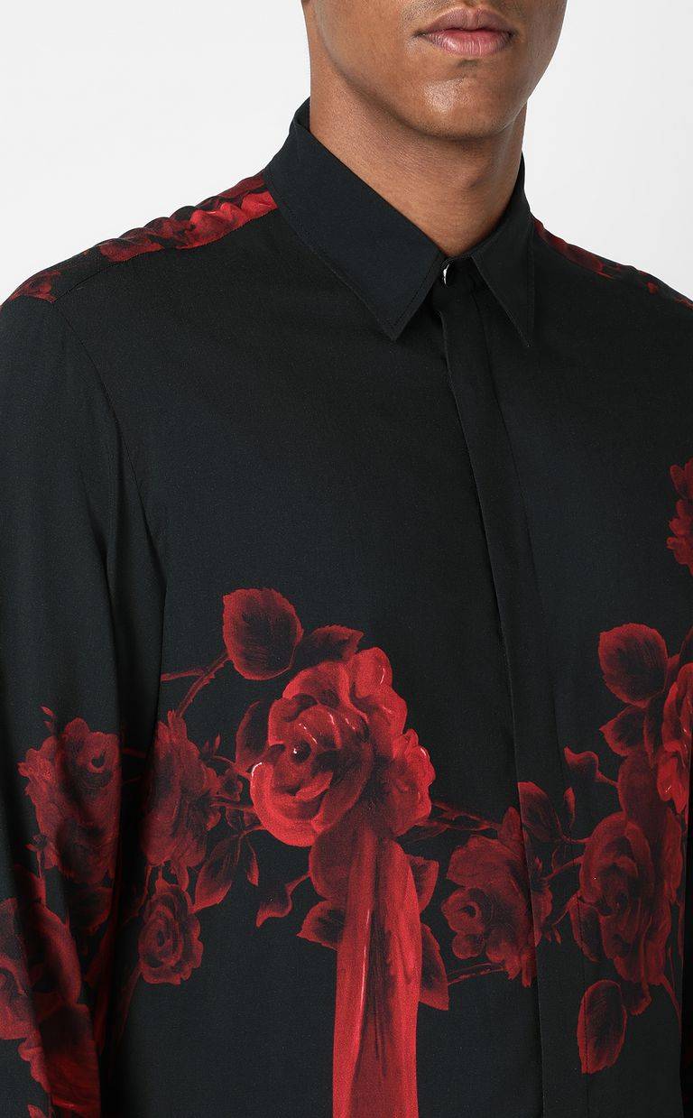 JUST CAVALLI Shirt with Moving Roses pattern Long sleeve shirt Man e