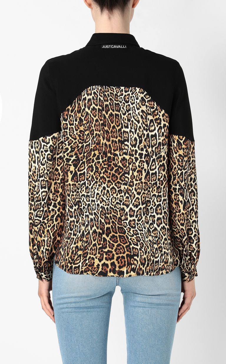 JUST CAVALLI Shirt with Dancing-Leo print Long sleeve shirt Woman a