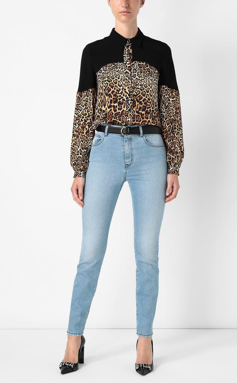 JUST CAVALLI Shirt with Dancing-Leo print Long sleeve shirt Woman d