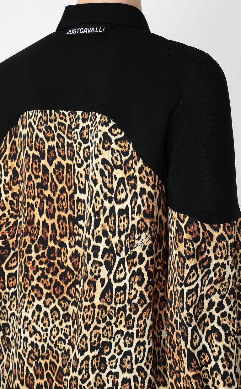 JUST CAVALLI Shirt with Dancing-Leo print Long sleeve shirt Woman e