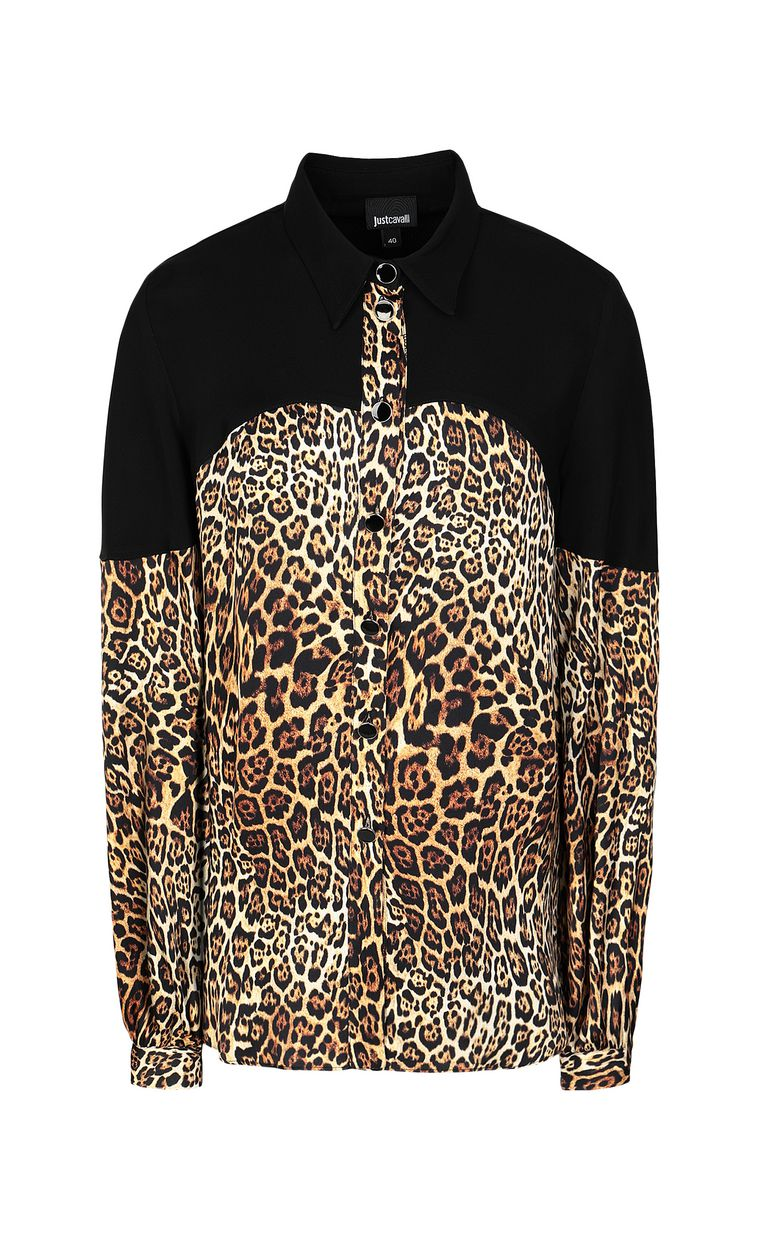 JUST CAVALLI Shirt with Dancing-Leo print Long sleeve shirt Woman f
