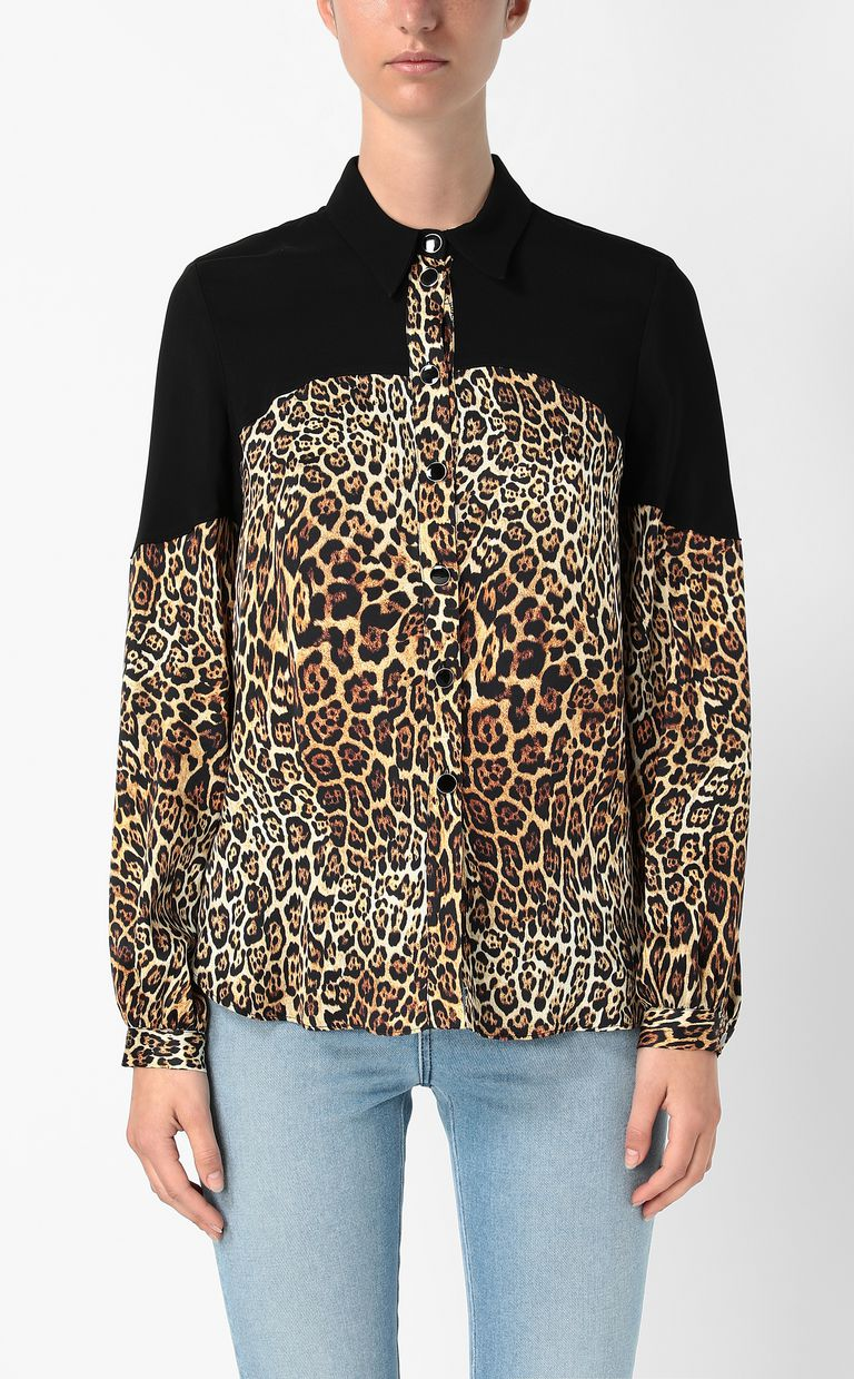 JUST CAVALLI Shirt with Dancing-Leo print Long sleeve shirt Woman r