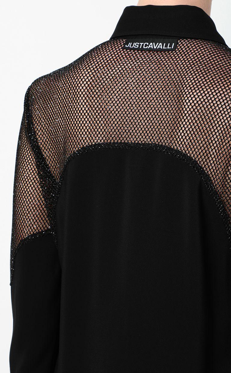 JUST CAVALLI Shirt with mesh detailing Long sleeve shirt Woman e