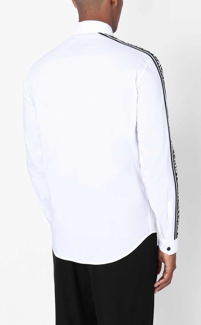 JUST CAVALLI Shirt with logoed band Long sleeve shirt Man a