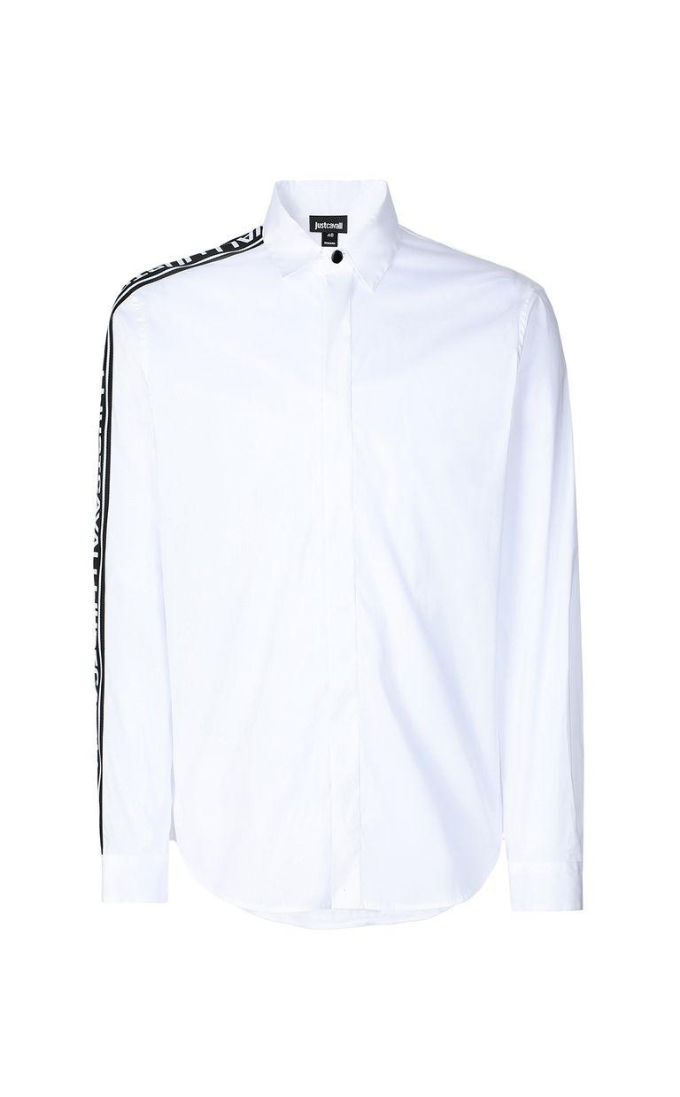 JUST CAVALLI Shirt with logoed band Long sleeve shirt Man f