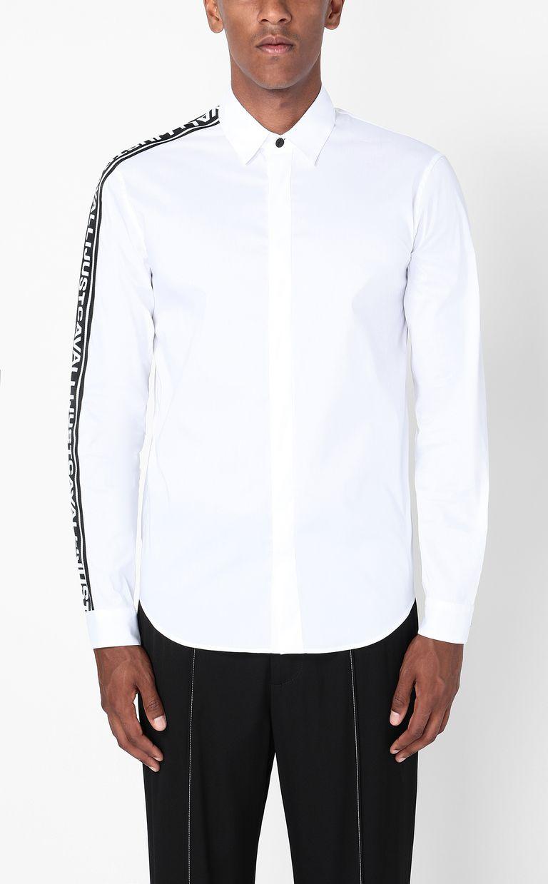 JUST CAVALLI Shirt with logoed band Long sleeve shirt Man r