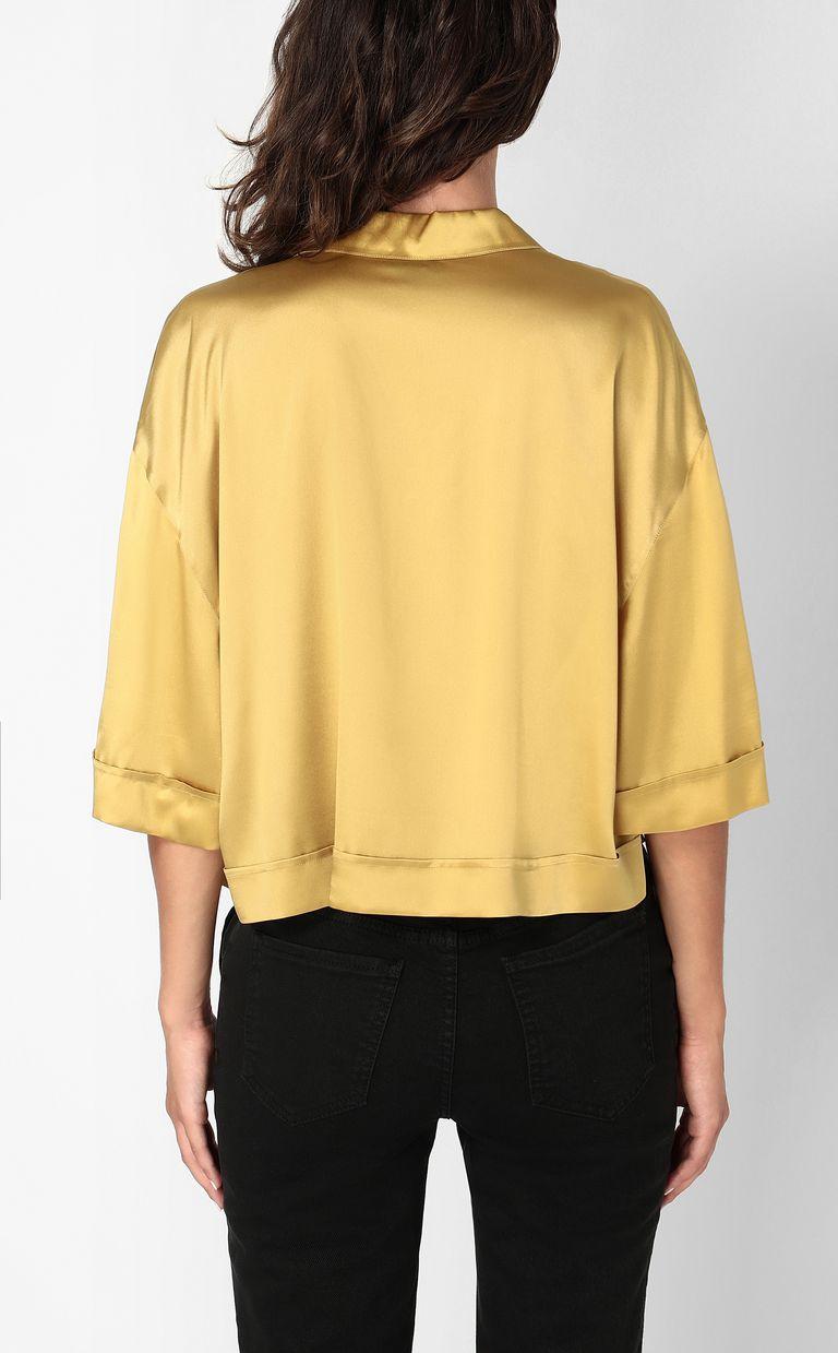 JUST CAVALLI Satin shirt Short sleeve shirt Woman a