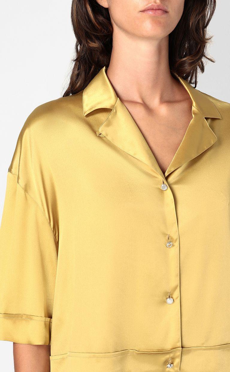 JUST CAVALLI Satin shirt Short sleeve shirt Woman e