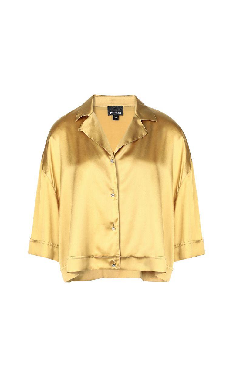 JUST CAVALLI Satin shirt Short sleeve shirt Woman f