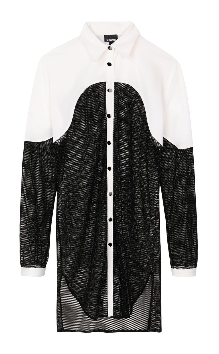 JUST CAVALLI Mesh shirt Long sleeve shirt Woman f