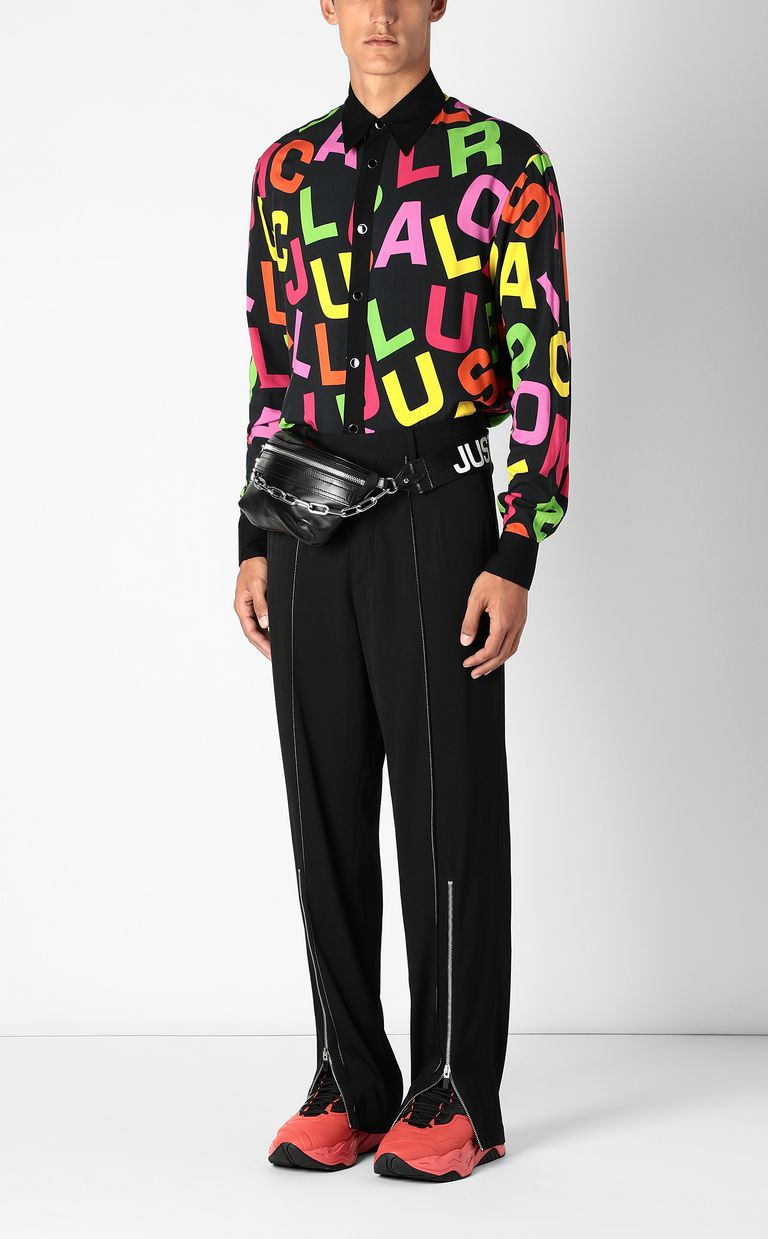 JUST CAVALLI Shirt with Ballroom Club lettering Long sleeve shirt Man d