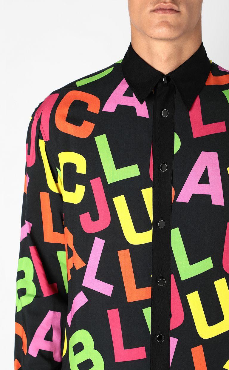 JUST CAVALLI Shirt with Ballroom Club lettering Long sleeve shirt Man e
