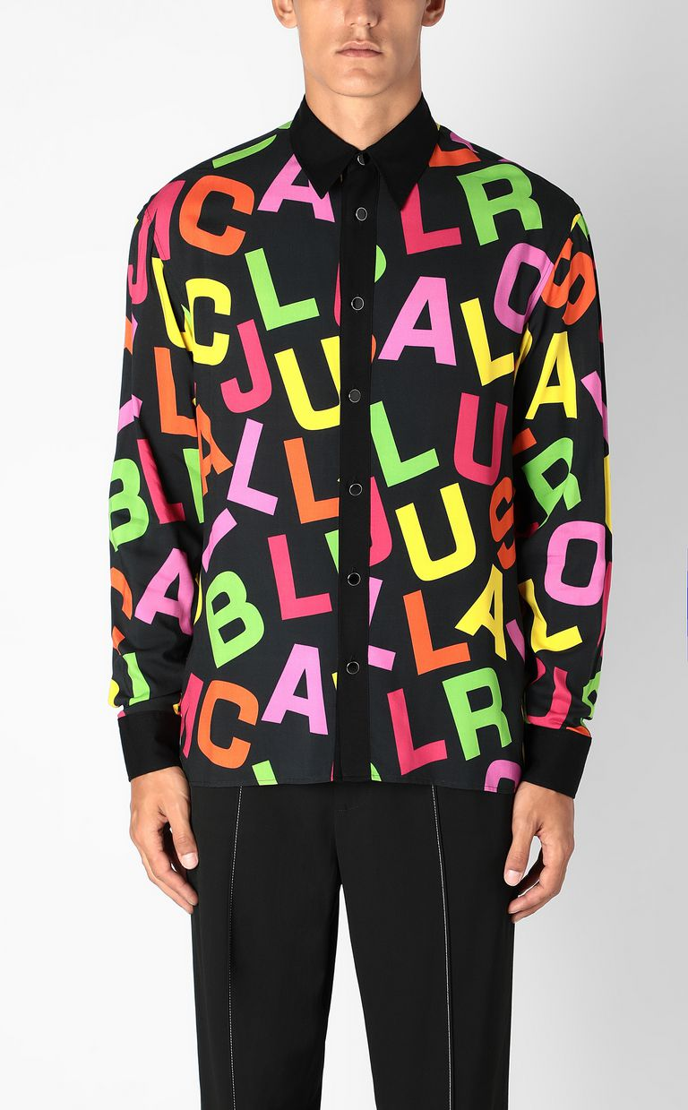 JUST CAVALLI Shirt with Ballroom Club lettering Long sleeve shirt Man r