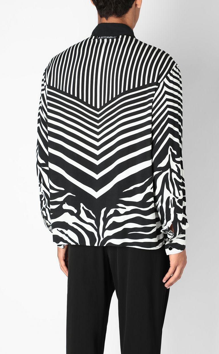 JUST CAVALLI Shirt in Optical-Zebra pattern Long sleeve shirt Man a