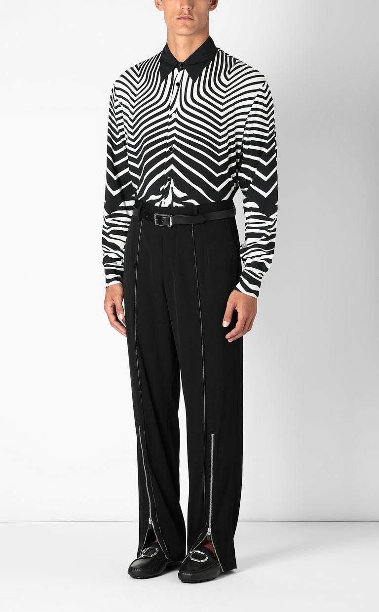 JUST CAVALLI Shirt in Optical-Zebra pattern Long sleeve shirt Man d