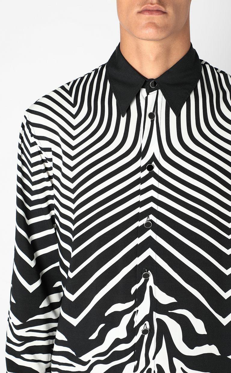 JUST CAVALLI Shirt in Optical-Zebra pattern Long sleeve shirt Man e