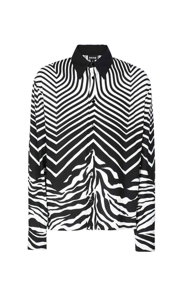 JUST CAVALLI Shirt in Optical-Zebra pattern Long sleeve shirt Man f