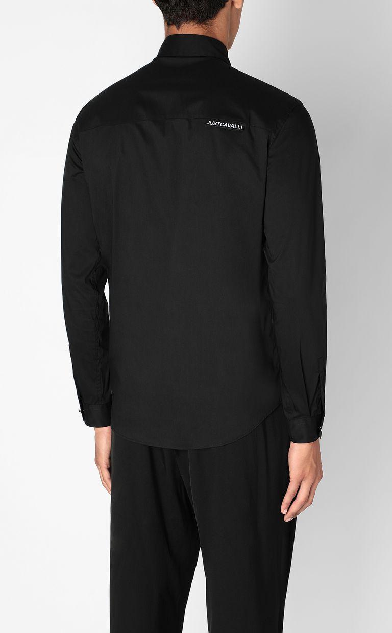 JUST CAVALLI Shirt with Flower-Skull motif Long sleeve shirt Man a