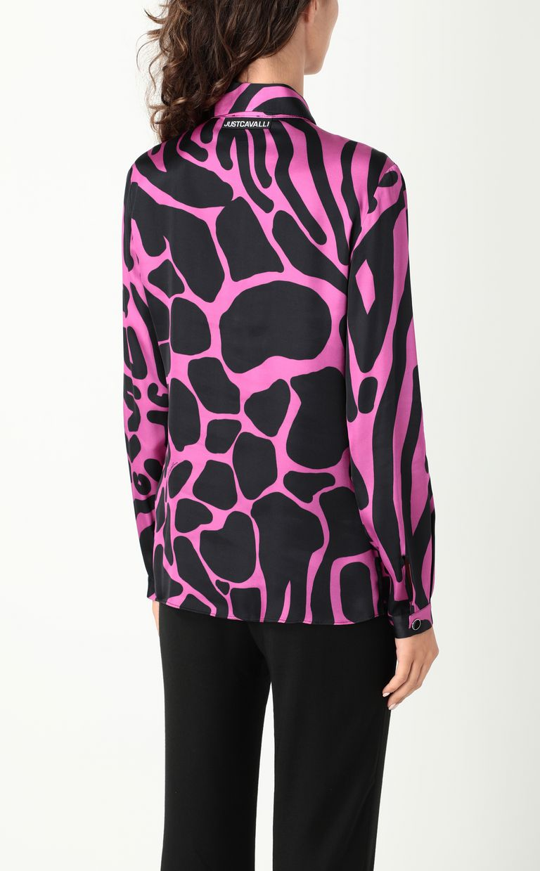 JUST CAVALLI Tribal-Mix-print shirt Long sleeve shirt Woman a