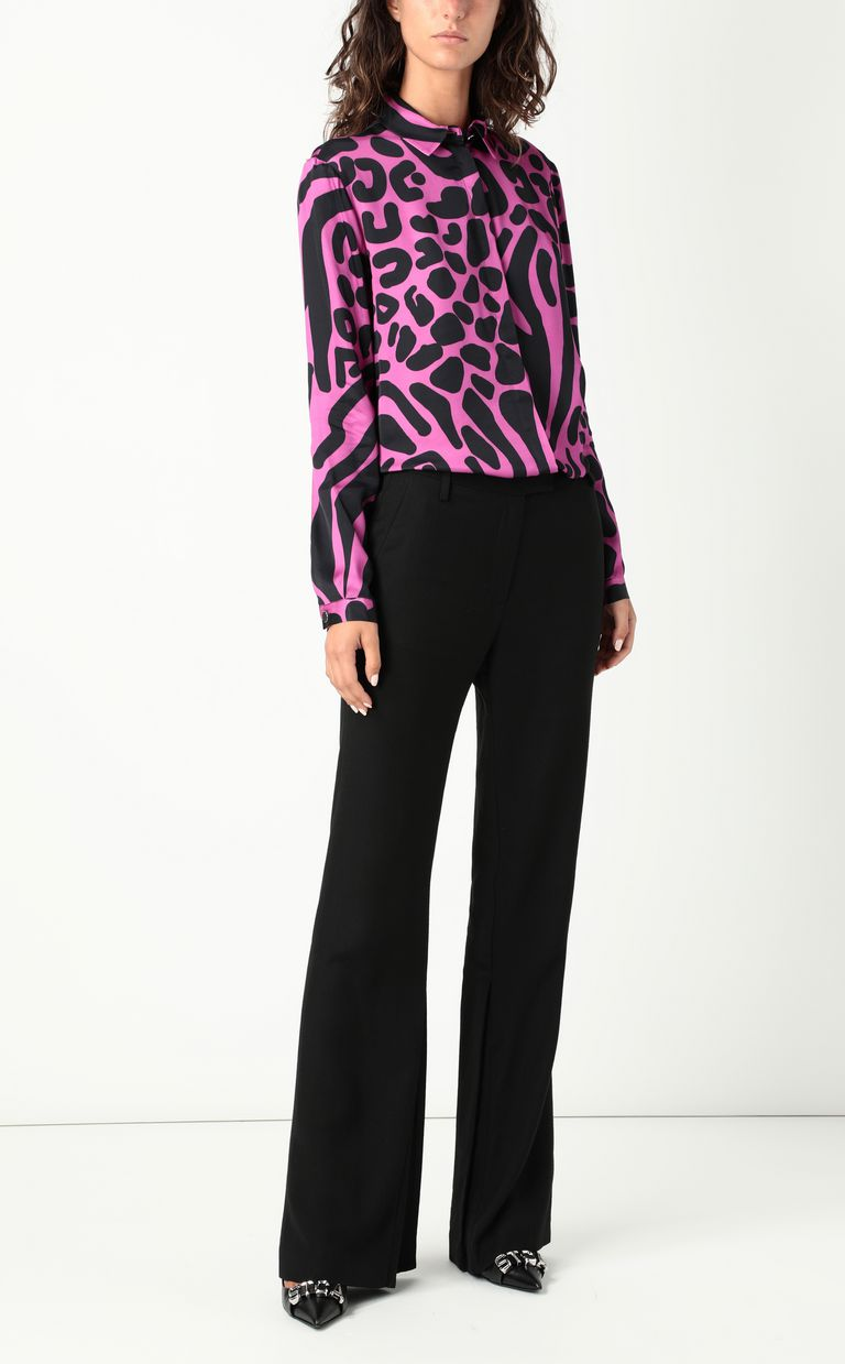 JUST CAVALLI Tribal-Mix-print shirt Long sleeve shirt Woman d
