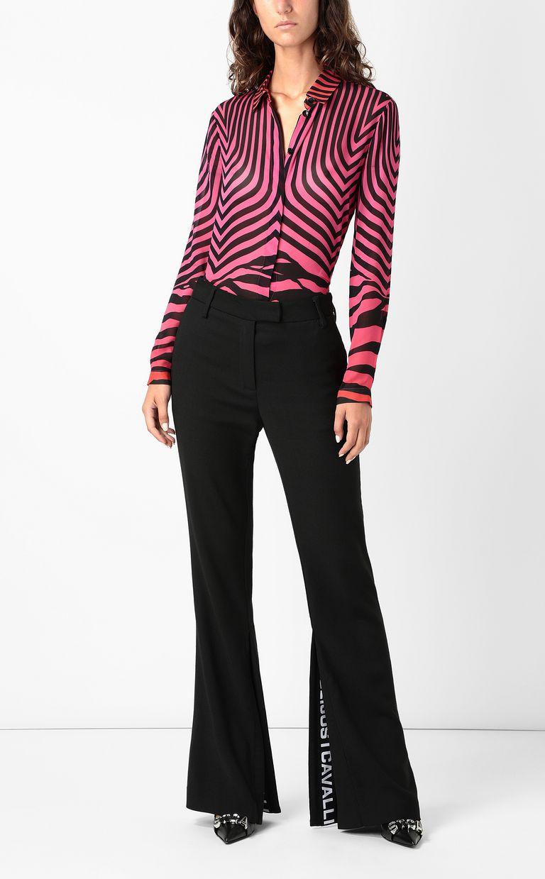 JUST CAVALLI Shirt with Optical-Zebra print Long sleeve shirt Woman d