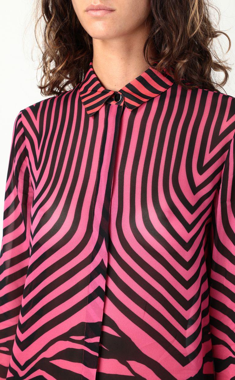 JUST CAVALLI Shirt with Optical-Zebra print Long sleeve shirt Woman e