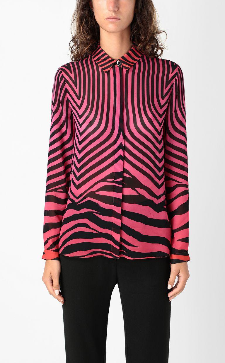 JUST CAVALLI Shirt with Optical-Zebra print Long sleeve shirt Woman r
