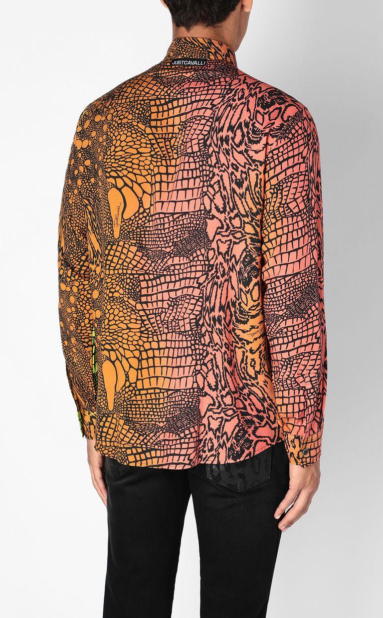 JUST CAVALLI Shirt with Reptilia print Long sleeve shirt Man a