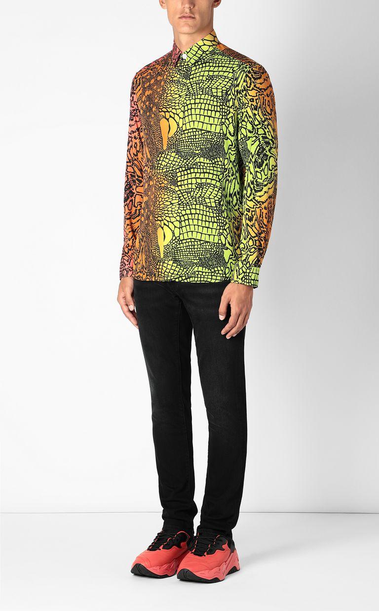 JUST CAVALLI Shirt with Reptilia print Long sleeve shirt Man d