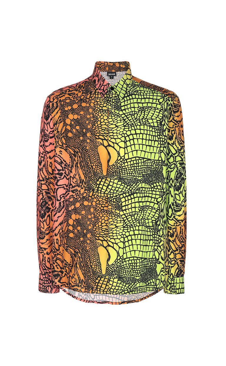 JUST CAVALLI Shirt with Reptilia print Long sleeve shirt Man f