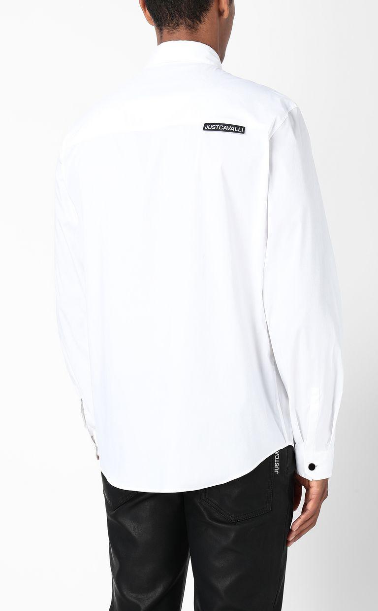 JUST CAVALLI Shirt with Just-Cavalli-Lion print Long sleeve shirt Man a